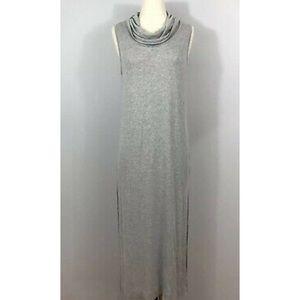 Anthropologie T.LA Gray Turtleneck Side Slit Dress